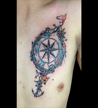 Compass Tattoo Designs